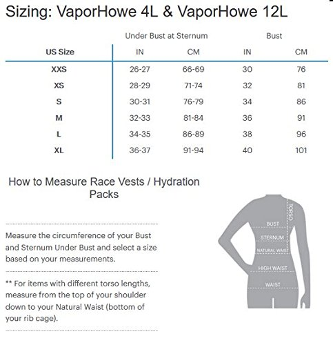 Nathan NS4538 Vaporhowe Hydaration Pack Running Vest with 1.8L Bladder, Blue Radiance, X-Small by Nathan (Image #5)