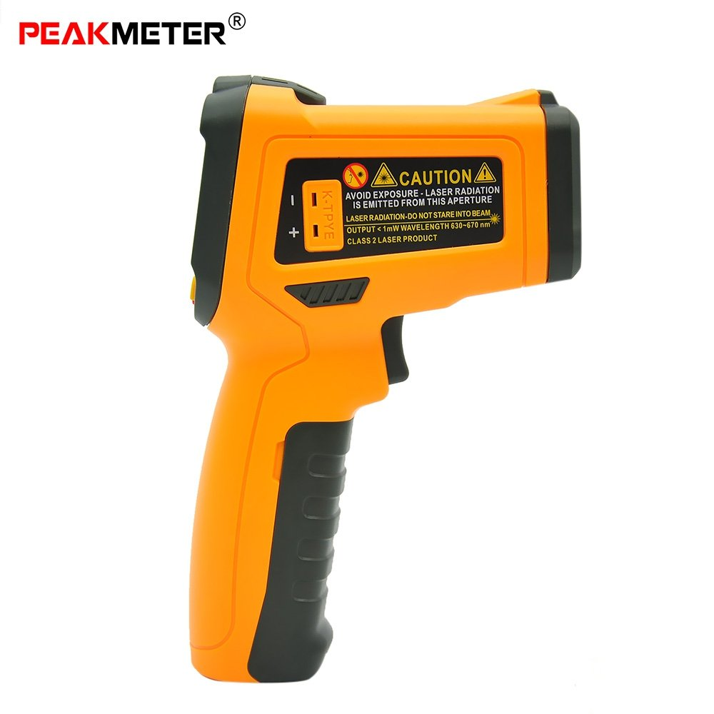 PEAKMETER Ir Infrared Thermometer, Pm6530c Non-Contact Thermometer Digital Gun