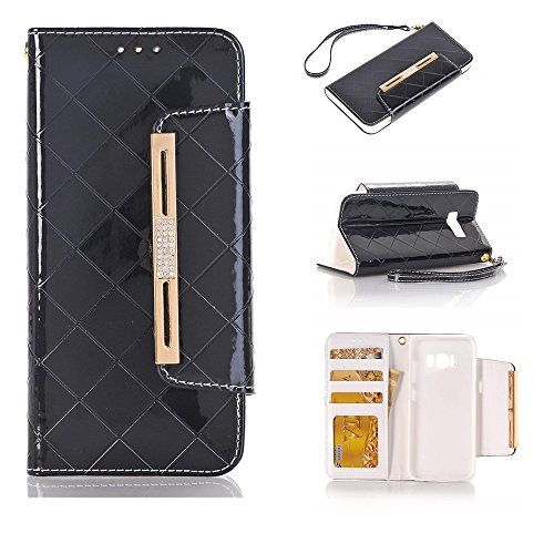 Businda Galaxy S8 Plus case for Women/Girls, Premium PU Leather Magnetic Folio Flip Cover Women Cute Style Candy Color Protective Case for Samsung S8+