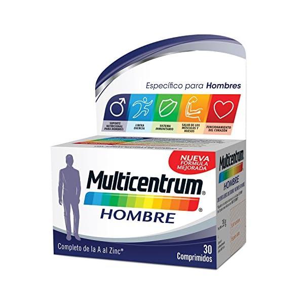 Multicentrum Hombre Complemento Alimenticio con 13 Vitaminas y 11 Minerales, Con Vitamina B1, Vitamina B6, Vitamina B12, Hierro, Vitamina D, Vitamina C, 30 Comprimidos 1