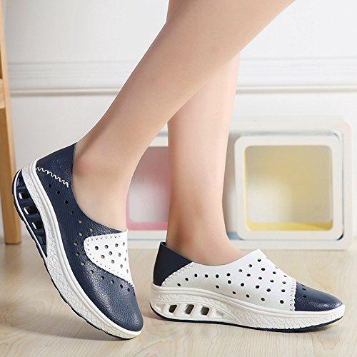 Mocassino Moda Donna Traspirante Mocassino Piatto Primavera Estate Comfort Camminando Sneaker Da Viaggio Blu