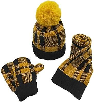 Set di guanti cappello sciarpa 3 pezzi cappello sciarpa e guanti Set bambini  3 pezzi cappello lavorato a maglia + sciarpa + guanti Set Set inverno caldo  per ... c83bfc63079a