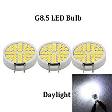 (Pack of 3) Dimmable LED G8 Base Bulb Daylight 35 Watt JCD Bi-pin G8 Halogen Bulb 120-volts for Under Counter Kitchen Lighting,Under-cabinet Accent Puck Light Desk Lamp