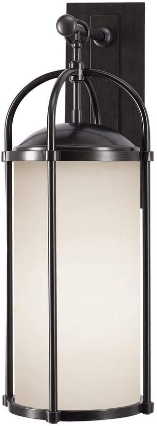 Feiss OL7602ES Dakota Outdoor Patio Lighting Wall Lantern, Bronze, 1-Light (10
