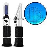 VIGORWORK Hand Instrument Tester Fluid Engine Glycol Battery Refractometer ATC Auto Antifreeze Freezing Point-50 ~ 0C 30-35% Urea Concentration antifreeze freezing point tester