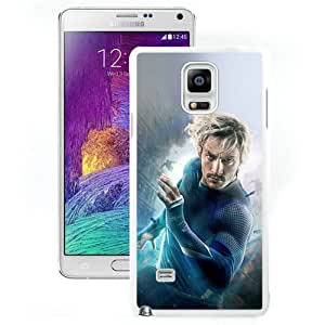 NOTE 4 Cover Case,Avengers Age Of Ultron Aaron Taylor Johnson Quicksilver White Personalized Cool Design Samsung Galaxy Note 4 Case