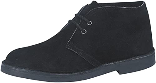Mens Classic Black Suede Desert Boots