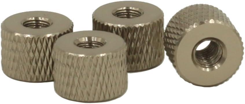R/ändelmutter aus Aluminiumlegierung Grau R/ändelmuttern 10 St/ück