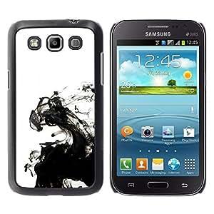 Be Good Phone Accessory // Dura Cáscara cubierta Protectora Caso Carcasa Funda de Protección para Samsung Galaxy Win I8550 I8552 Grand Quattro // Ink White Clean Minimalist Water