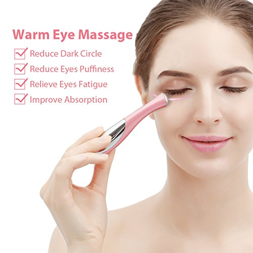 Eye Massager, Vibration 42℃ Heated Under Eye Massager Wand - Relieves Dark Circles Puffiness Eye Wrinkle Device by ZLiME (Image #2)