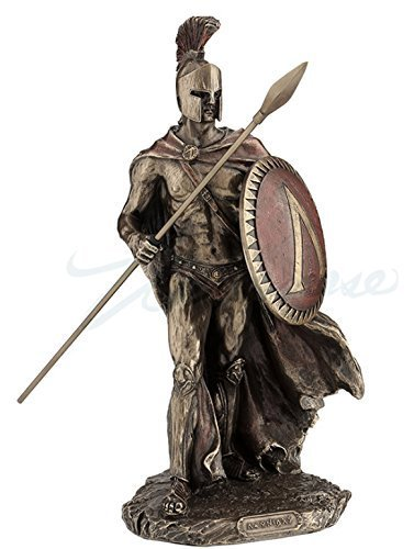 Leonidas Spartan King with Spear & Shield Statue]()