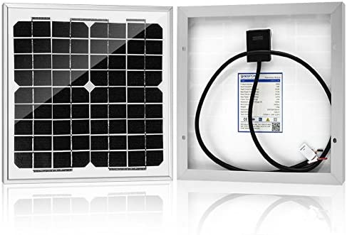 ACOPOWER HY010-12M 10 Watt 10W Mono Solar Panel for 12V Battery Charging RV Boat, Off Grid