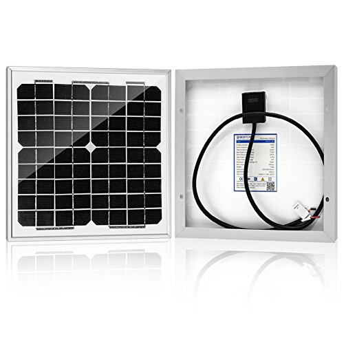 Powereco 10 watt 10W Monocrystalline Photovoltaic PV Solar Panel Module for 12v Battery Charging