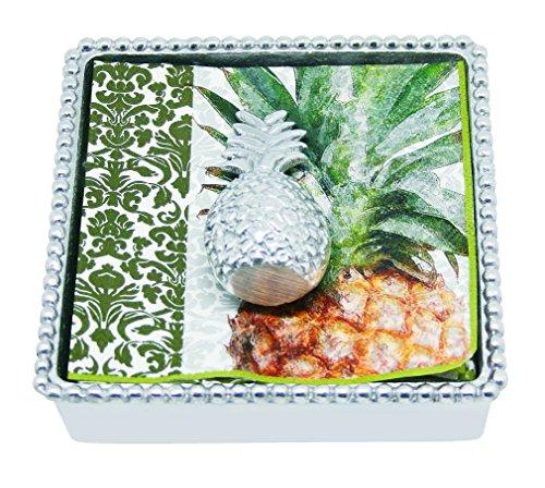 Mariposa Pineapple - Mariposa Pineapple Beaded Napkin Box