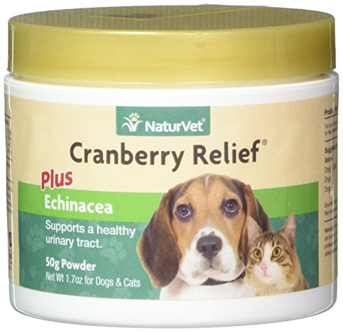 NaturVet Cranberry Relief Plus Echinacea for Dogs and Cats, 50 gm Powder, Made in USA