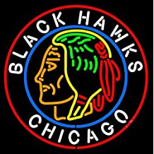 New Larger Chicago Black Hawks Neon Light Sign 24''x24'' H601d(no More Long Waiting for Weeks/months with Fast Shipping From Ca with Free Usps Priority Mail)