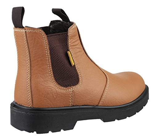 Unisex Dealer Steel in Boot On 5 Pull Tan FS115 rRrgOqWFn7