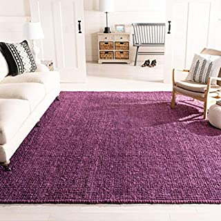 Safavieh Natural Fiber Collection NF447B Hand Woven Purple Jute Area Rug (5' x 8') (B00E2ONU48) | Amazon price tracker / tracking, Amazon price history charts, Amazon price watches, Amazon price drop alerts