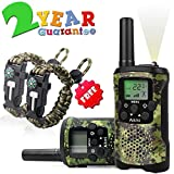 Walkie Talkies for Kids 8 Channel 3 KM Long Range Ingenious Communication Gadget Preventing Myopia Toys Best Birthday Gifts for 4-6 year old Boys Fit Outdoor Adventure Game Camping perfect gift idea (Green camo)