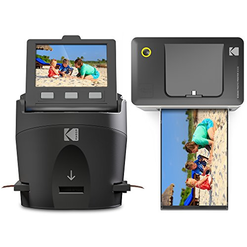 Kodak Scanza Film Scanner & Dock Printer Bundle - Scan, Save and Print Negatives & Slides to 4x6 Prints - Set Includes Kodak Printer Dock, Kodak Scanza Digital Film Scanner & 16GB SD Card w/Reader -
