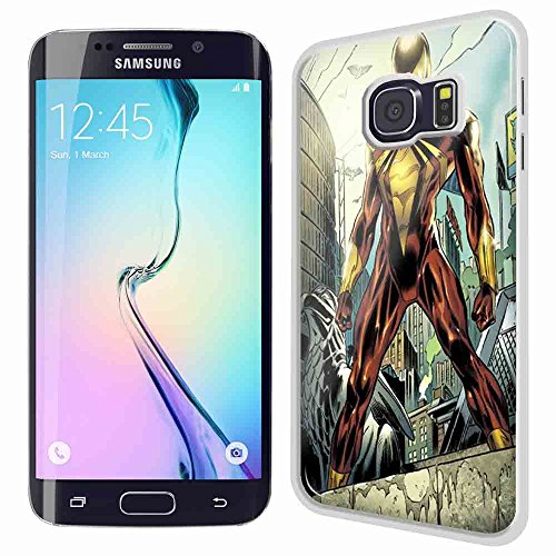 iron spider comic art for Samsung S6 Edge White case