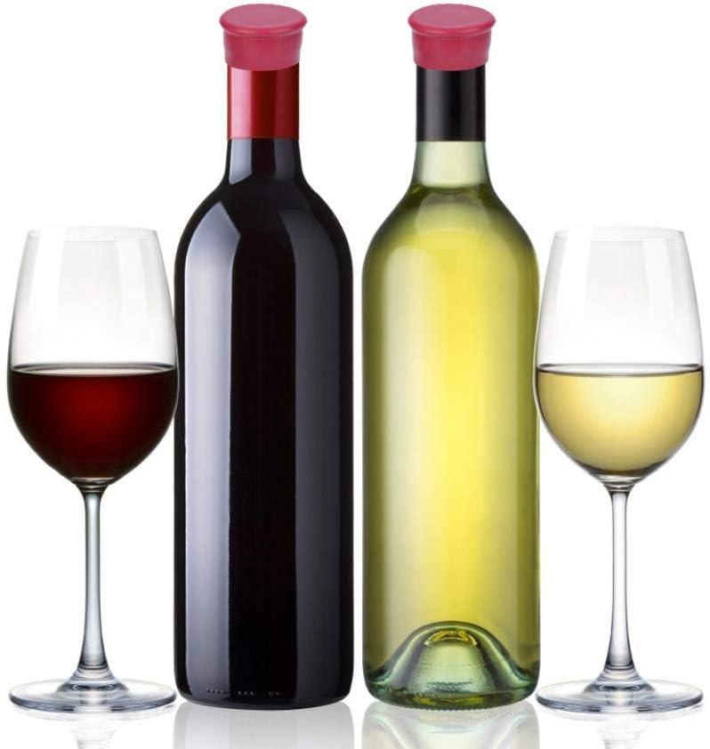 Set tap/ón de Botella de Silicona Botella de Vino tap/ón de Bebida Herramienta de Barra de Cocina Duokon 5pcs