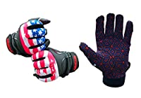 Clutch Sports Apparel American Flag Baseball & Softball Batting Gloves