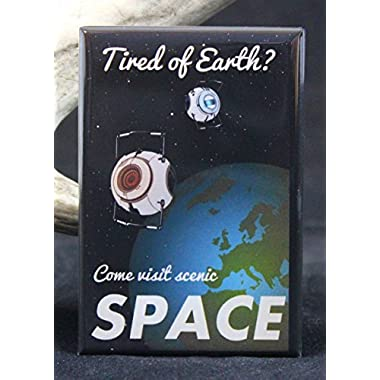 Come Visit Scenic Space  Travel Poster Refrigerator Magnet. Portal