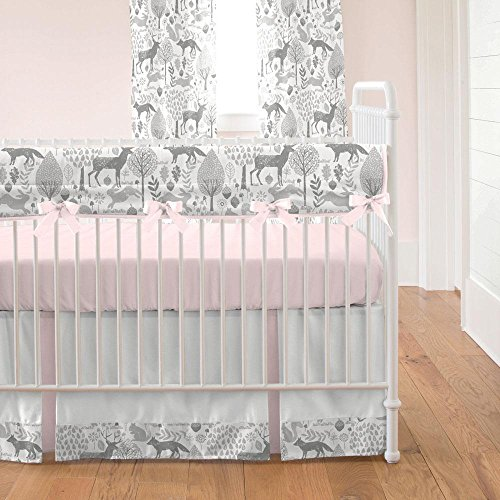 Carousel Designs Pink and Gray Woodland Crib Bumper by Carousel Designs (Image #3)