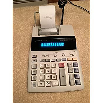 Sharp EL-1801P 2-Digit 2-Color Serial Printing Calculator
