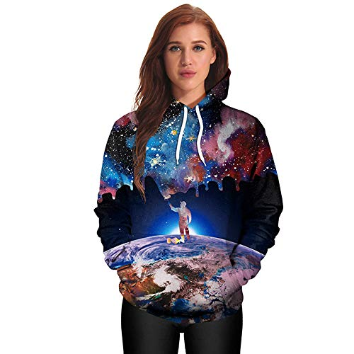 UROSA Ladies Printed Hooded Round Neck Sweater Clothing 2019 (Mod Mom Tags Name)