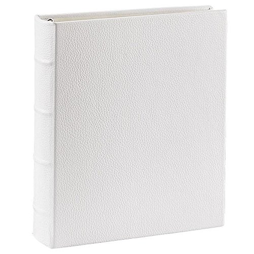 Standard 3-ring Chalk-White Fine European Leather Binder unfilled by Graphic Image™ - 8.5x11
