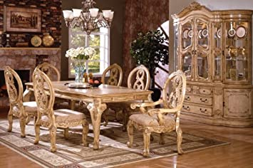 Inland Empire Furniture Tuscany Antique White Wash Solid Wood 7 Piece  Formal Dining Set Part 89