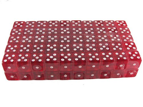 1000 (One Thousand) 19mm 6-Sided Red Gaming Dice, Perfect for Poker Games and Card Games. by Bluff King