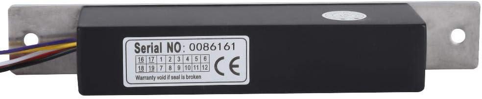 12V / 24V Cerraduras electromagnéticas, Cerradura eléctrica de aluminio de una sola puerta - Control de acceso señal de retroalimentación para puerta de vidrio/Puerta de madera