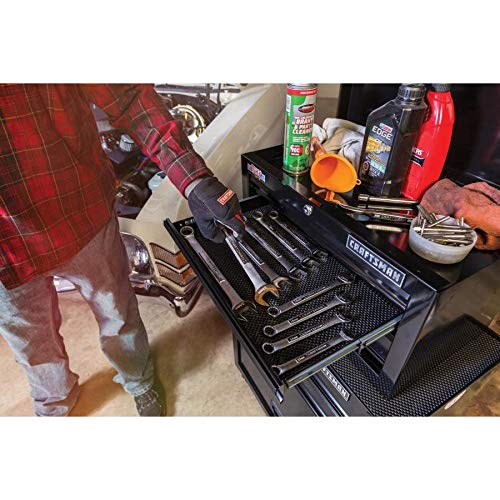 CRAFTSMAN 5-Drawer Ball-Bearing Steel Tool Chest Combo (Black) 1000 Series 26-in W x 44-in H by Craftsman (Image #7)