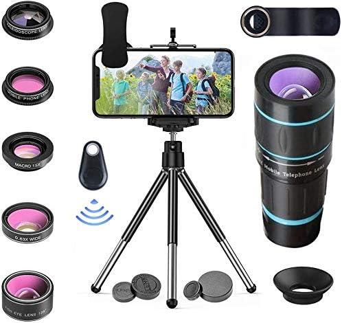 Kit de lentes iPhone, teléfonos Samsung con Android