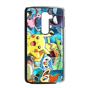 Lovely Pokemon happy Pikachu Cell Phone Case for LG G2