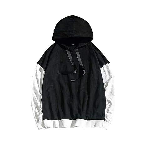 Ropa de hombre moda streetwear ❤ Sonnena Hombres Fasion Style Loose Fit Sudadera con capucha