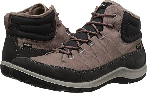 ECCO Women's Aspina GTX High Hiking Shoe, Moonless/deep Taupe, 39 M EU (8-8.5 US) (Gtx Hiking Boot Light)