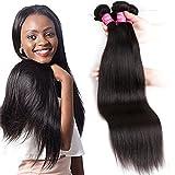 "Mink 8A Brazilian Virgin Hair Straight Remy Human Hair 4 Bundles Deals (16"" 18"" 20"" 22"") 100% Unprocessed Brazilian Straight Hair Extensions Natural Color Weave Bundles by Grace Length Hair"