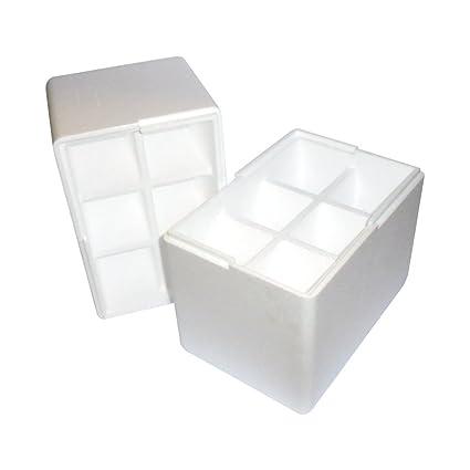 Unidades 1 caja porta botellas con orificio cuadrado (6 Bottles) caja de poliestireno para