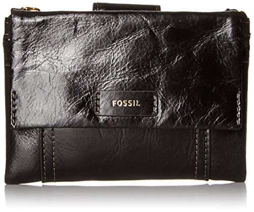 Fossil Ellis Multifunction Wallet, Black, One Size