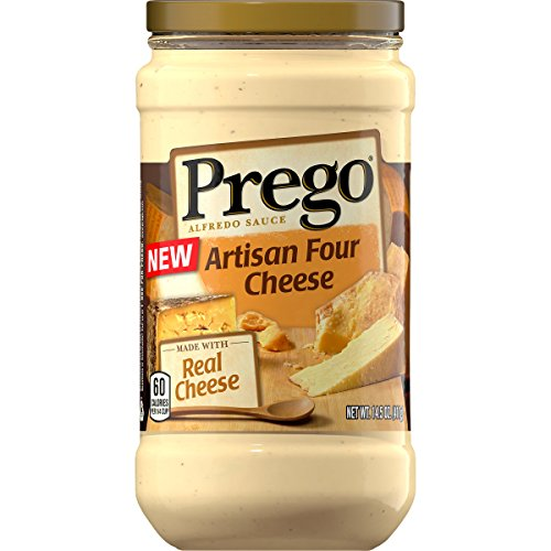 Prego Alfredo Sauce, Four Cheese, 14.5 oz. Jar (Pack of 6)