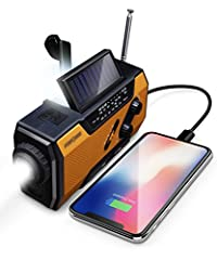 Enhance your Emergency Preparedness with FosPower's Solar Crank Emergency Weather Radio The weather radio provides you with tools to use in emergency and non-emergency environments. The radio comes integrated with a 1W LED flashlight with zoo...