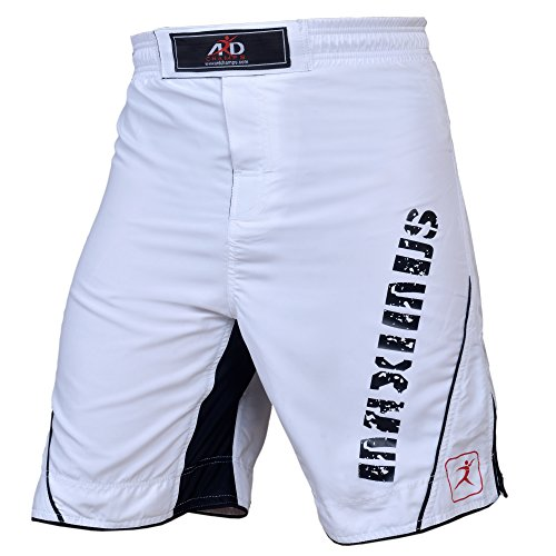 ARD MMA Fight Shorts UFC Cage Fight Clothing Grappling Muay Thai Kick Boxing (white, - Fight White Shorts Mma