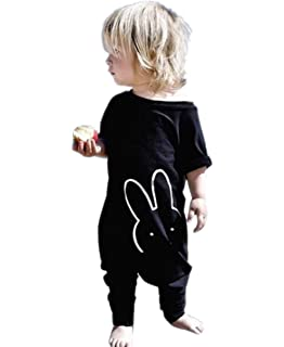 e916d57e993f TheFound Baby Boy Girl Romper Bunny Printed Long Sleeve Jumpsuit Zipper  Playsuit Outfits (Tag 110