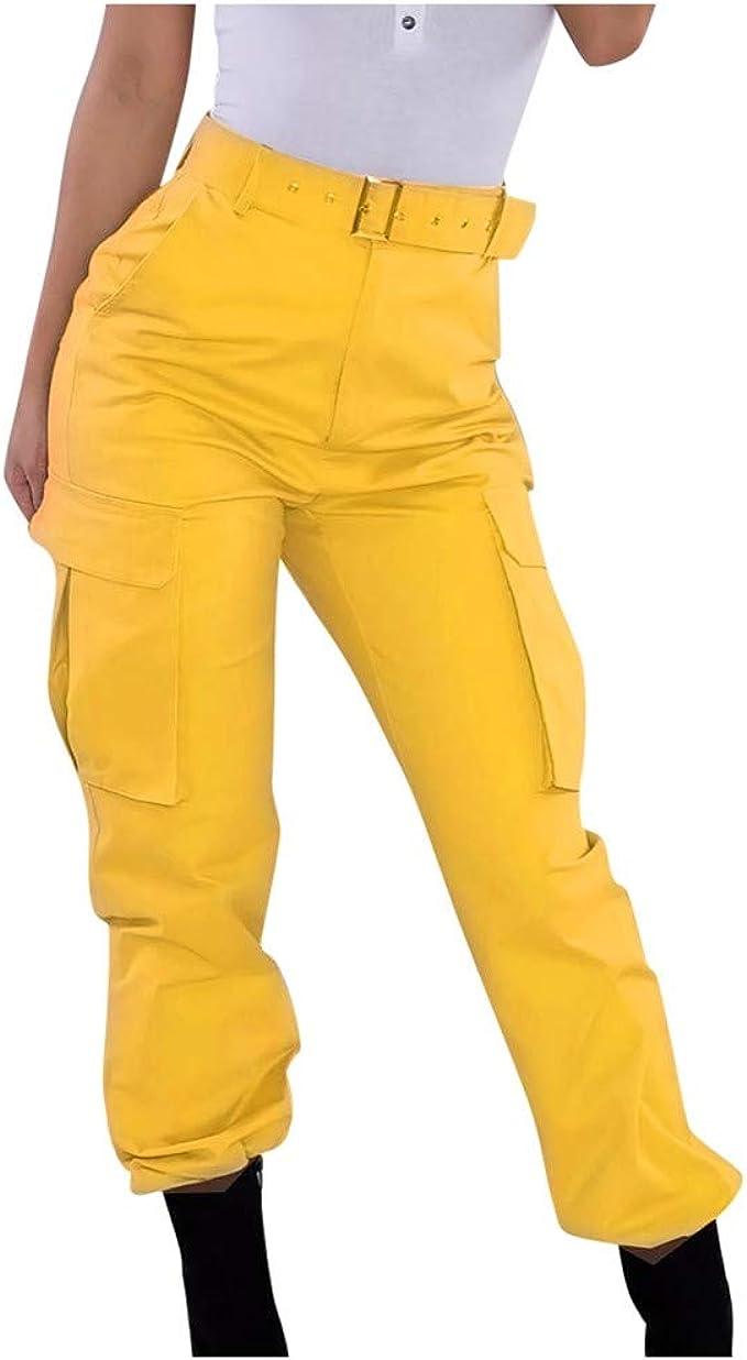 Pantalones Cargo para Mujer Pantalones Casuales Pantalones ...