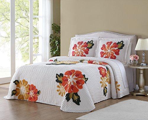 Ellison Autumn Chenille Bedspread, Queen (Bedspread Chenille Queen)