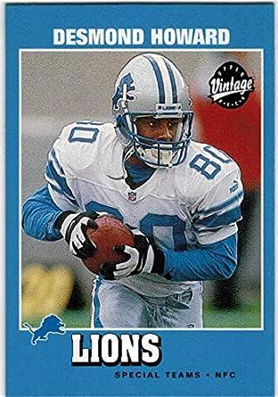 detailing b2239 ff2e7 Amazon.com: 2001 Upper Deck Vintage Detroit Lions Team Set ...